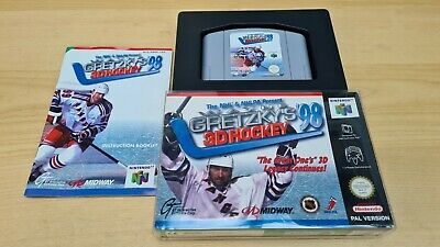 Wayne Gretzky's 3D Hockey 98 Nintendo 64 N64 PAL Boxed Complete