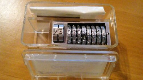 New Count Numbering Machine Bi-Matic Gothic Reverse