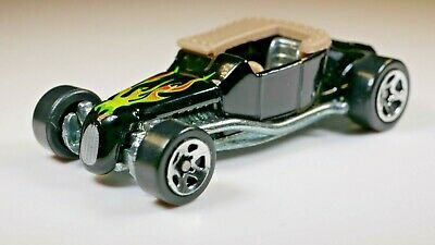 TRACK-T BUCKET 1999 FIRST EDITIONS #917 1/64 HOT WHEELS BLACK TOP FLAMES
