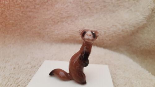 Hagen Renaker Ferret Standing Figurine Miniature Funny New Free Shipping 03318