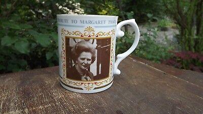 1990 Margaret Thatcher Longest Serving Prime Minister Caverswall Mug 1979-90