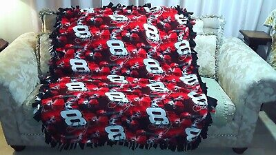 NASCAR Racing DALE EARNHARDT JR #8 Budweiser Fleece Throw Blanket 50x60 Chevy Nascar Fleece Throw