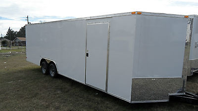 24 Car Hauler Enclosed Cargo 5200ib Axle Auto Race Trailer 8.5x24 9990 Lb Gvwr