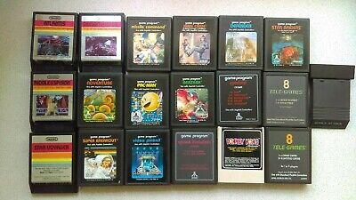 Set of 19 ATARI 2600 Games with Manuals - All Rare NTSC Versions / US Imports