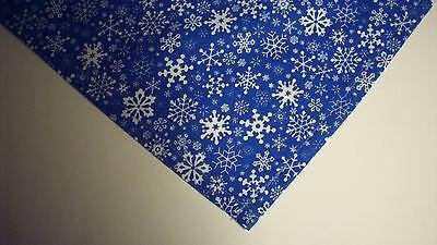 Dog Bandana/Scarf Tie On Christmas Snowflakes Custom Made by Linda  xS,S,M,L,xL