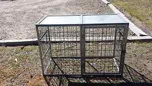 Steel dog cage Bulga Singleton Area Preview