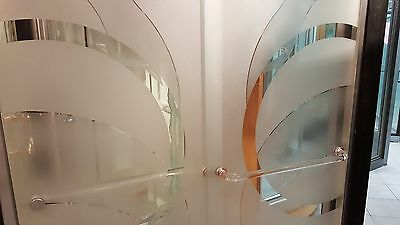 SHOWER DOOR PARTS (ACRYLIC CAST) GOLD ACCENTS CLEAR LOOK THROUGH GLASS