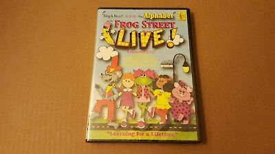 Sing Read & Write Alphabet Frog Street LIVE! - Educational DVD - NEW Sealed READ