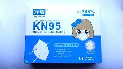 KN95 FFP2 Kindermasken 6-12 Jahre, 10er Pack, SOFORT aus Deutschland CE 2703
