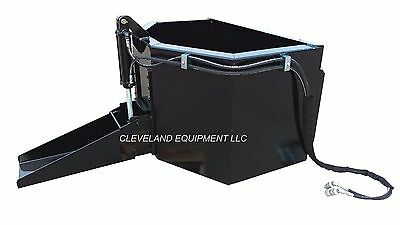 New Hydraulic Concrete Dispensing Mud Bucket Attachment Bobcat Skid Steer Loader