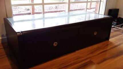 Solid Lowline Coffee Table - Glass Top Carrum Downs Frankston Area Preview