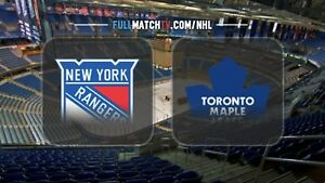 NY RANGERS at TORONTO MAPLE LEAFS (2, 3 Tickets Golds, Greens)