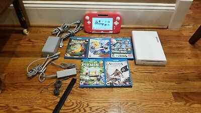 Nintendo Wii U 8GB White System Bundle     5 Games Mario Luigi Pikmin 3 Pokemon