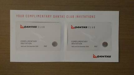 Qantas Club Lounge Pass X2