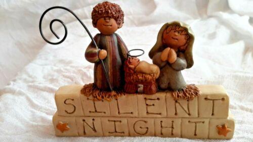 BLOSSOM BUCKET SUZI SKOGLUND SIGNED SILENT NIGHT SHELF SITTER FIGURINE NATIVITY