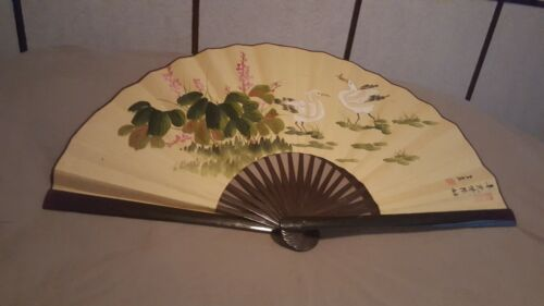 Large Old Japanese Decorative Folding Fan