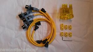 VW-Beetle-Camper-T2-Yellow-HT-Ignition-Leads-Disributor-Cap-Seperators