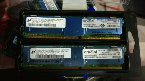 Crucial CT25672AF667 Micron 4GB (2x2GB) PC2-5300F DDR2 ECC Server Memory RAM
