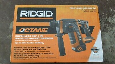 Ridgid R86711b Brushless 18v 1 Inch Sds Plus Rotary Hammer Tool Only 117