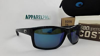 b2ef07adfc2 New Costa del Mar Mag Bay Polarized Sunglasses Black Blue Mirror 580G Glass  Fish