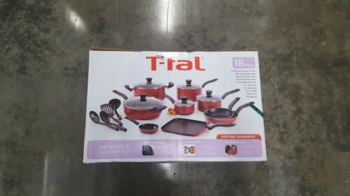 T-fal B165SI Initiatives Nonstick Inside and Out Dishwasher Safe 18-Piece