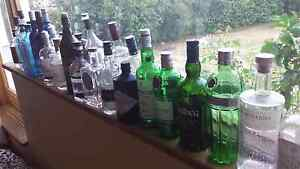 Variety of scotch and gin bottles for decoration or craft project Deakin South Canberra Preview