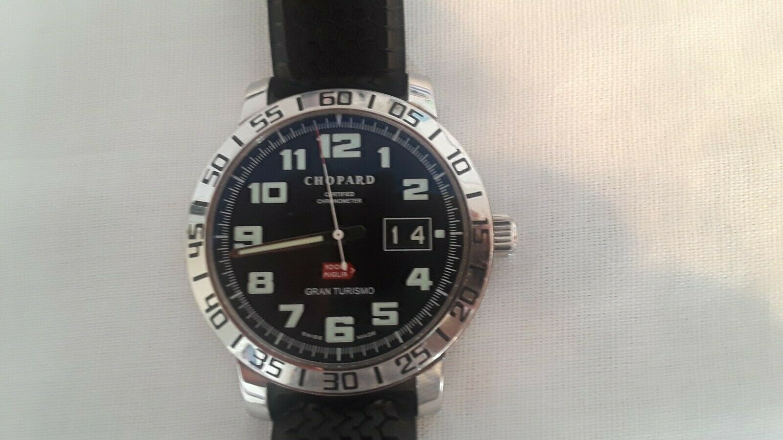 Chopard Men's Mille Miglia Gran Turismo 8955 Steel 41MM Date w/ Box & Papers - watch picture 1