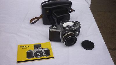 German Exa Vx 500 Camera  Lens Carl Zeis Tessar 2 8   50