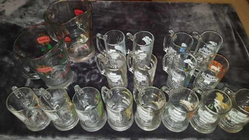 Schmidt Beer Collector Set Mugs and Pitchers **COMPLETE SET**