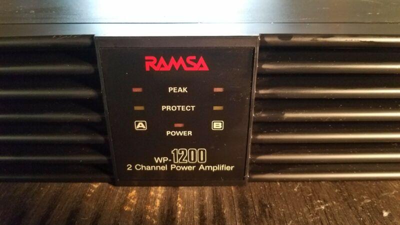 2 pcs. RAMSA Panasonic Professional WP-1200 Stereo Power Amp 200W per channel