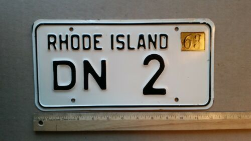 License Plate, Rhode Island, 1963, 3 Digit, DN 2