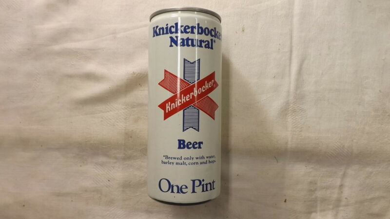 Vintage Knickerbocker Natural Pint Beer Can Steel x