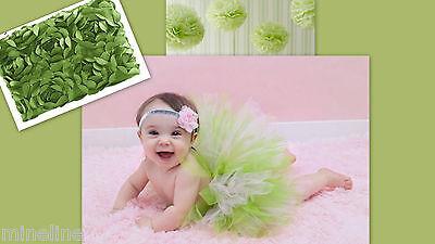 ★★NEU 2Tlg. Baby Fotoshooting Kostüm Süß Tütü apfelgrün& Haarband 0-6 Monate ★★U
