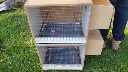 2 level bird breeding cabinet with nest boxes excellent condition