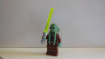 Lego - Star Wars - Minifigur - Kit Fisto mit Waffe -
