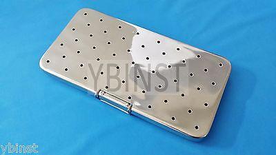 French Steel Sterilization Dental Cassette Box Tray 6 X 10 W Silicone Pad