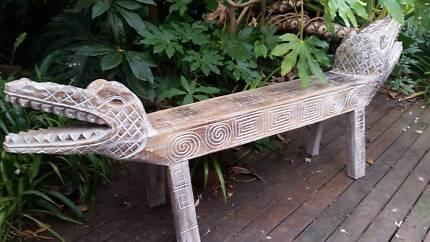 Crocodile  bench seat