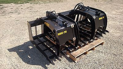 New 78 Brush Grapple. Grade 50 Steel Fits Skid Steer Kubota Bobcat Tractor
