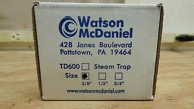 Watson Mcdaniel Td600 38 Steam Trap Brand New Free Shipping