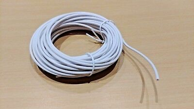 Strand Bell Wire (5 Metre - WHITE 0.75 MM2 Bell Wire - 24/0.2mm Stranded Copper Cable (12/24V) )