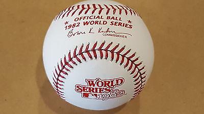 Rawlings St Louis - 1982 Rawlings Official WORLD SERIES Baseball ST. LOUIS CARDINALS