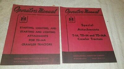 2 International T-14 Td-14 Td-14a Dozer Special Attachments Operators Manual