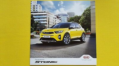 Kia Stonic 2 First Edition paper brochure sales catalogue October 2017 MINT NEW