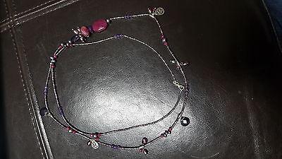 Amethyst Purple Quartz Bead Necklace - SILPADA Silver Purple Quartz Amethyst Agate Long Bead BLUSH WINE Necklace N2348
