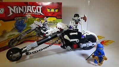 Lego Ninjago 2259 Skull Motorbike with Instructions, Minifigs 100% Complete