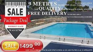 Glass pool fence Stocktake SALE - Package Deal - Adelaide ONLY Holden Hill Tea Tree Gully Area Preview