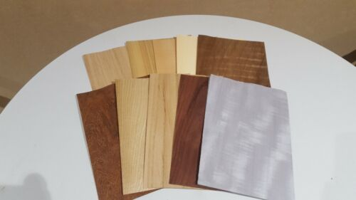 Wood+Veneer+Sample+Pack+-+10+PIECES+220mm+x+150mm+for+marquetry+-+Pack+81