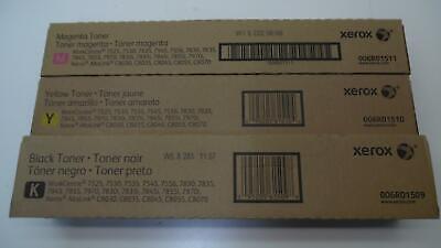 Set of 3 Xerox Toner Cartridges 6R1509(B) 6R1510(Y) 6R1511(M) - Unopened