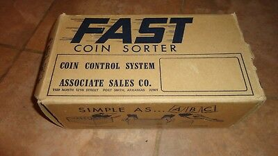 Sorter System (Vintage Fast Coin Sorter System Fort Smith Arkansas Associate Sales 5 Tray )