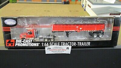 DCP#31891 MTB RED VOLVO VT800 SEMI DAY CAB TRUCK EAST END DUMP TRAILER 1:64/ for sale  Shipping to Canada